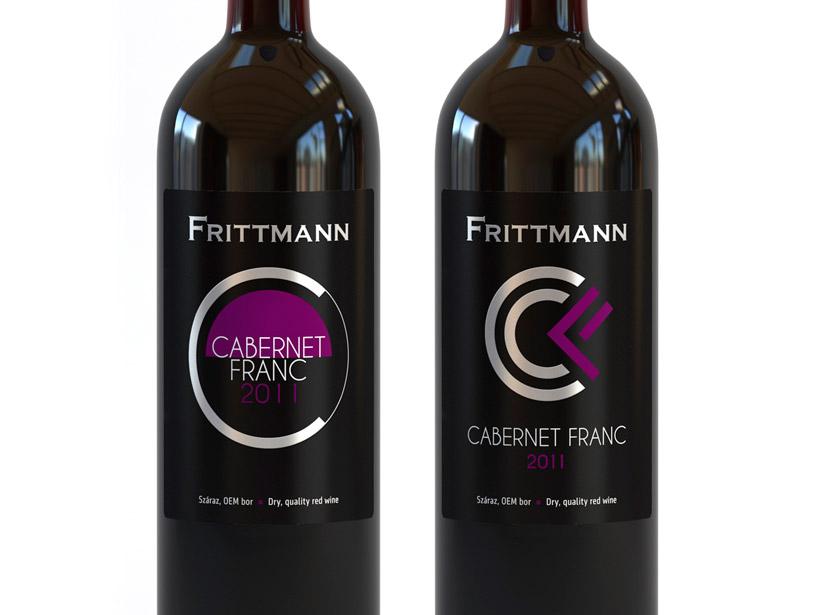 Frittmann Cabernet Franc címketervek design by Evista Kreatív Stúdió